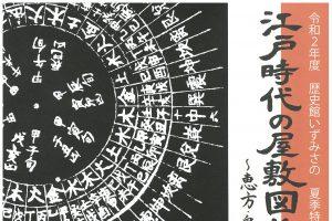 江戸時代の屋敷図と占い書 ~恵方・鬼門と家相~